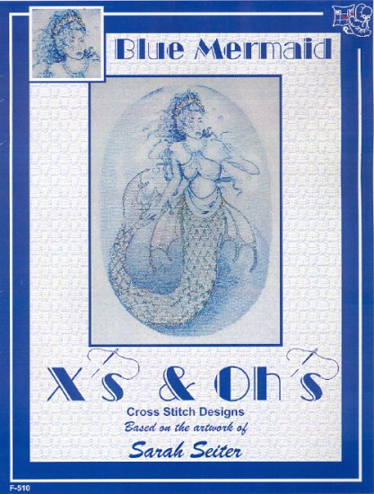 Blue Mermaid ~ Sarah Seiter ~ Cross-stitch Chart