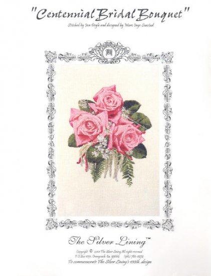 Centennial Bridal Bouquet Pink Roses ~ Cross-stitch Chart