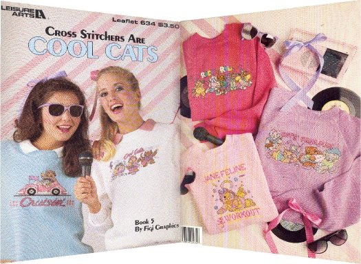 Cool Cats ~ Cross-Stitch Chart 1988