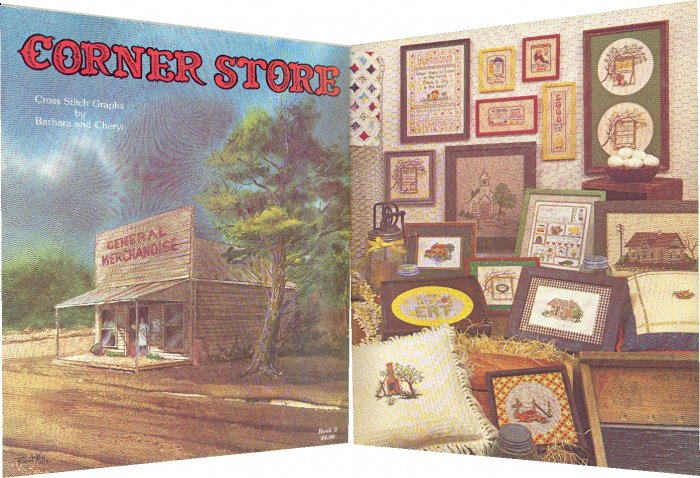 Corner Store ~ Cross-Stitch Chart ~ 1979