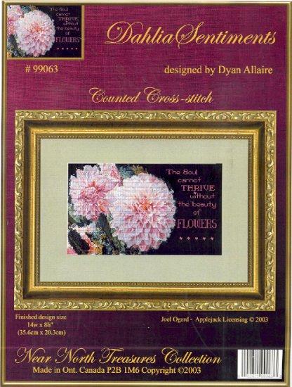 Dahlia Sentiments ~ Cross-stitch Chart