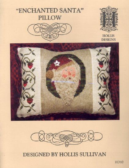 Enchanted Santa Pillow ~ Cross-stitch Chart