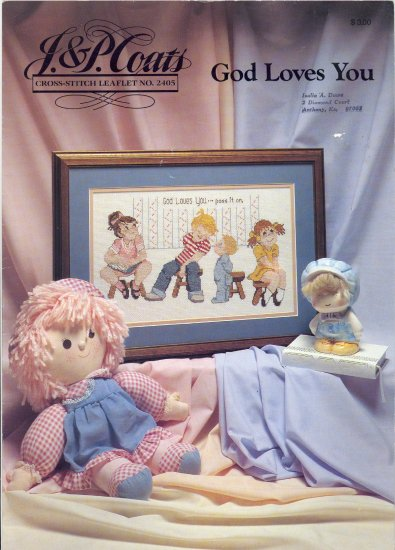 God Loves You ~ Cross-Stitch Chart 1989