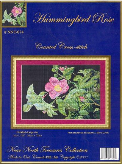 Hummingbird Rose ~ Cross-stitch Chart