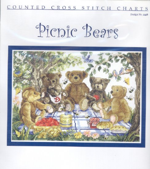 Picnic Bears ~ Cross-stitch Chart