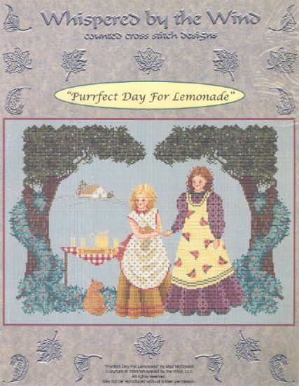 Purrfect Day for Lemonade ~ Cross-stitch Chart