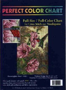 Hummingbird Floral ~ CHART for Cross-Stitch and Needlepoint