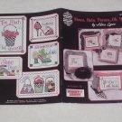 Shoes, Hats, Purses...Oh My!!! ~ Cross-stitch book Alma Lynne