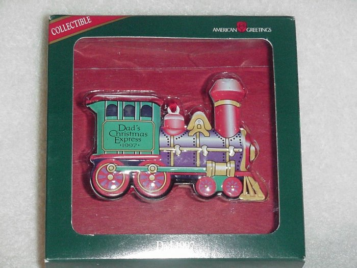 American Greetings Ornament ~ Dad 1997 ~ Train