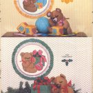 A Teddy Bear ~ Bear Toys,  & Wall Hoop Pattern ~ 1983 Gingham Goose