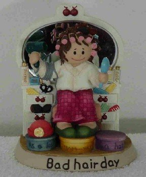 Zingle Berry Figurine ~ Bad Hair Day