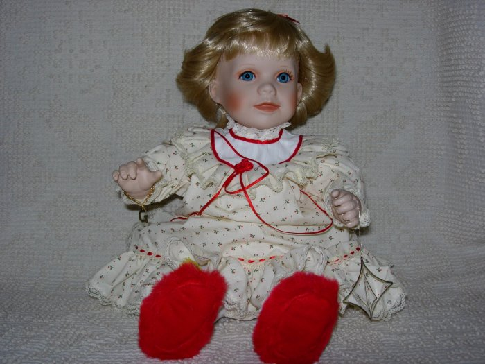 Gorham Baby's First Christmas Doll by Estelle Worrell ~ 1993