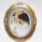 Framed Victorian Mother with Baby Matted Picture