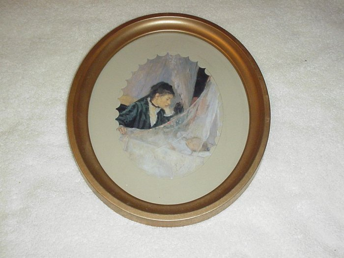 Framed Victorian Mother with Baby Picture