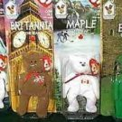 4 McDonald's International Bears - Teenie Beanies 1999