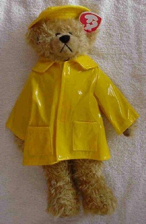 Gordon ~ Ty Attic Treasures ~ Bear in raincoat