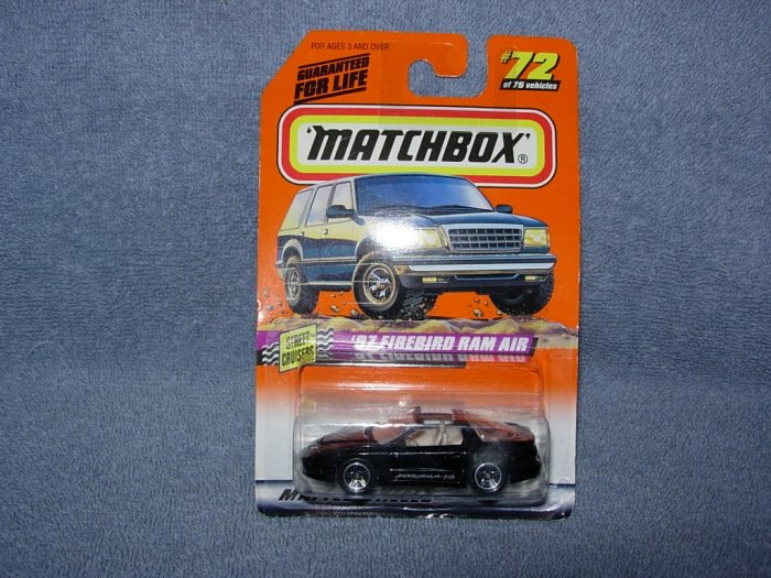 Matchbox ~ 97 Firebird Ram Air ~ # 72