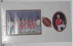 Team Photo Football Mat ~ Holds 2 photos! NEW