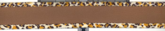 "1.25"" Trim ~ 10 + yards ~ Brown Pleather with Leopard edges"