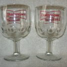 2 Budweiser Glass Beer Goblets