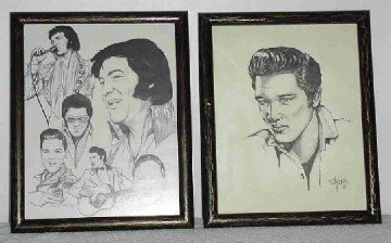 2 Elvis Presley Pictures in Frames