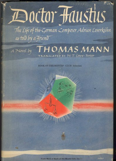 Doctor Faustus Book by Thomas Mann ~ Book 1948