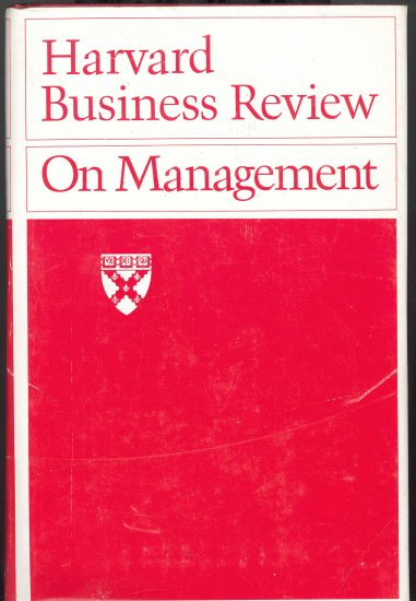 Harvard Business Review on Management ~ Book 1975
