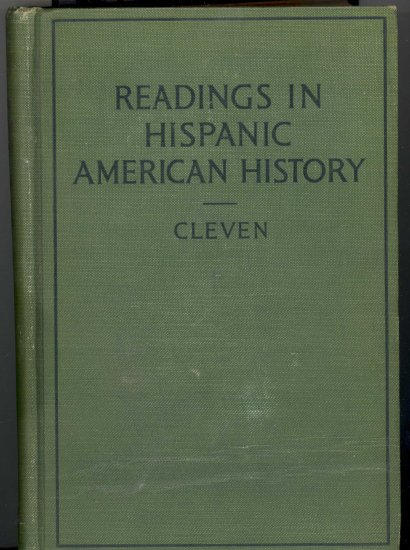 Readings in Hispanic American History ~ Book 1927