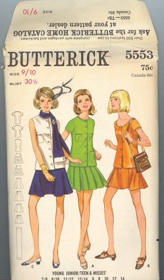 Butterick 5553 ~ Uncut Vintage Dress Pattern 1960's size 9/10