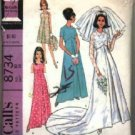 McCall's Pattern # 8734 ~ 1967 Vintage Bride & Bridesmaids ~ size 10