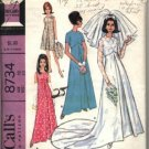McCall's Pattern # 8734 ~ 1967 Vintage Bride & Bridesmaids ~ size 12