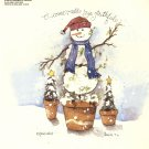 Snowman Ye Faithful China Decal New~ Snowman Topiary ~ Ceramic or Porcelain