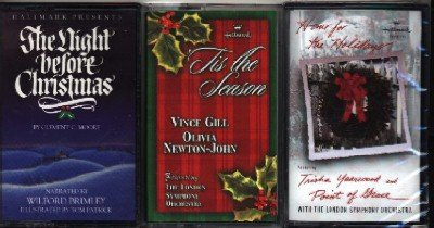 3 X-mas Cassette Tapes (Vince Gill, Olivia Newton-John & Trisha Yearwood