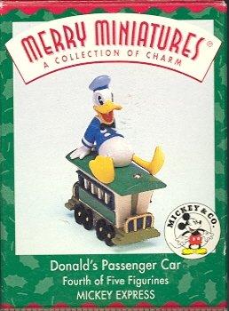 Hallmark Merry Miniatures ~ Donald's Passenger Car 1998 ~ Mickey Express