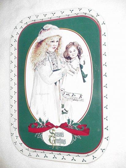 Jan Hagara ~ Holly ~ Season's Greetings Serving Tray 1984