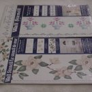 Patchwork Flower Basket or Magnolia ~ Wall Stencil