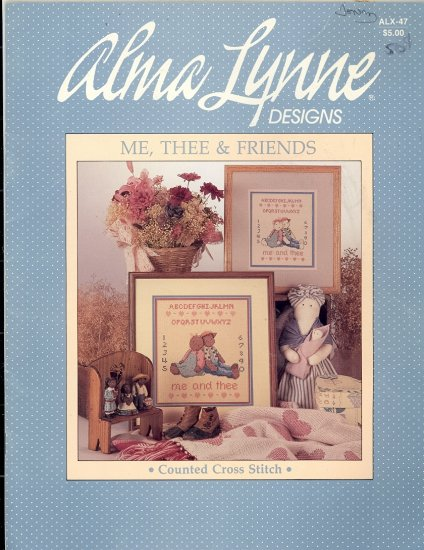 Me, Thee & Friends ~ Cross-stitch Booklet Alma Lynne ~ 1985