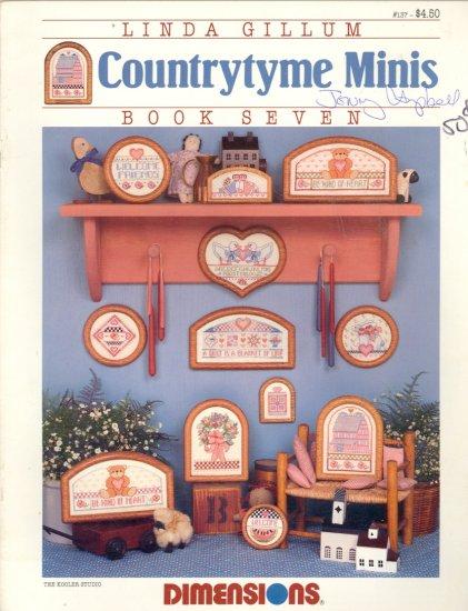 Countrytyme Minis ~ Linda Gillum ~ Cross-stitch Chart 1987