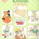 Calico Kittens for All Seasons by Priscilla Hillman ~ Cross-stitch Chart 2002