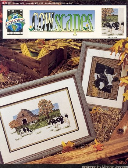 Cowscapes by Michele Johnson ~ Cross-stitch Chart 1992