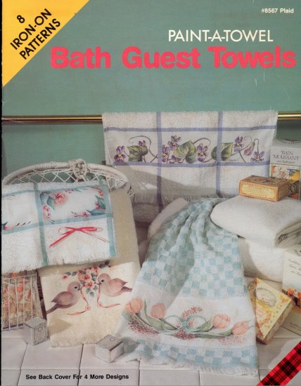 Bath Guest Towels ~ Paint-A-Towel ~ Iron-On Transfers ~ Booklet 1990