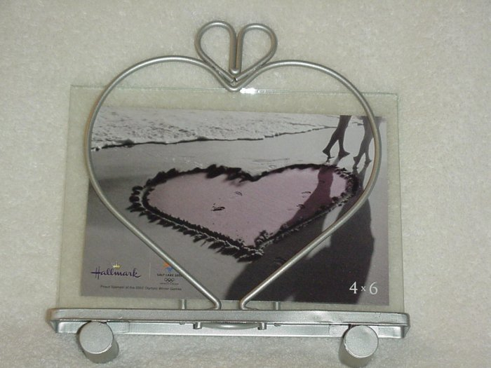 Valentines and Hearts Glass and Metal Picture Frame
