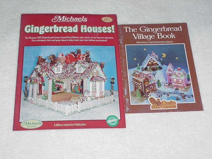 Gingerbread Houses! & The Gingerbread Village Book ~ 2 Booklets 2002 & 1982