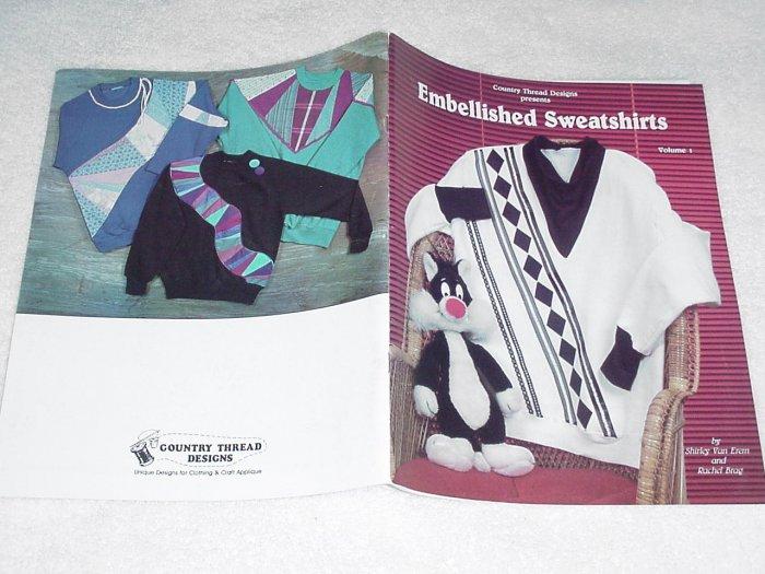 Embellished Sweatshirts by Shirley Van Erem and Rachel Brag ~ Booklet 1986