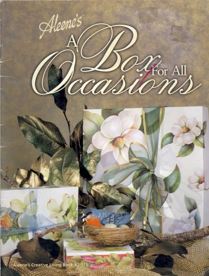 A Box for All Occasions by Aleene ~ Booklet 1998