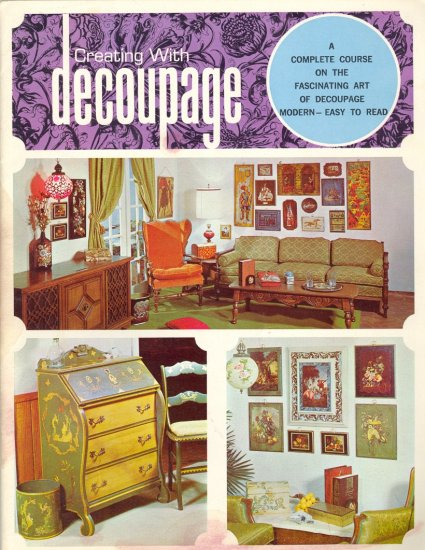 Vintage Creating with Decoupage ~ Booklet