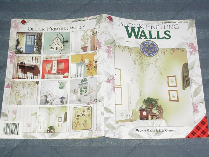 Block Printing Walls by Jane Gauss & Liza Glenn ~ Decorative Painting Book 1995