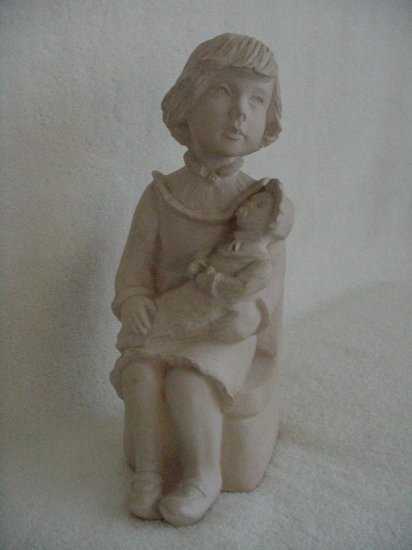 Sculpture ~ Girl with Baby Doll