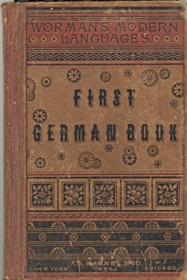 First German Book by James H. Worman ~ Book 1880