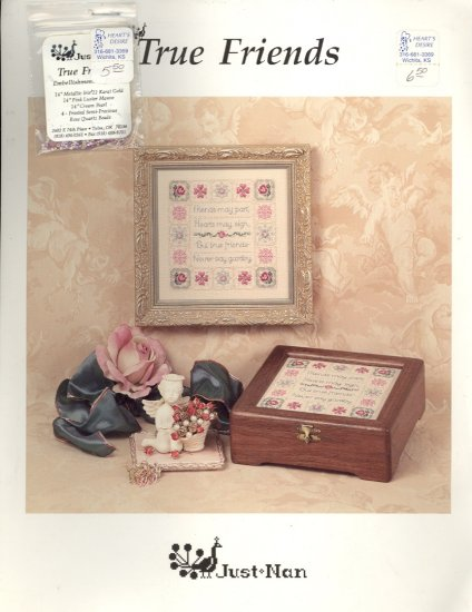 True Friends by Nan Caldera ~ Cross-Stitch Chart with Beads 1996